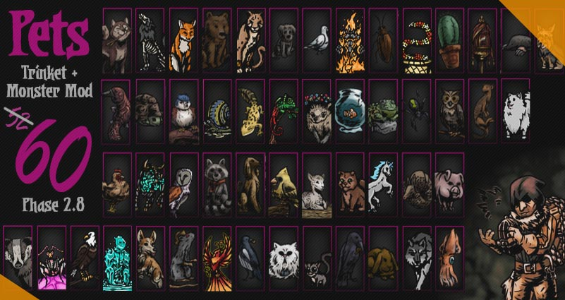 Лучшие моды для Darkest Dungeon Pets 2 Trinket Monster Mod