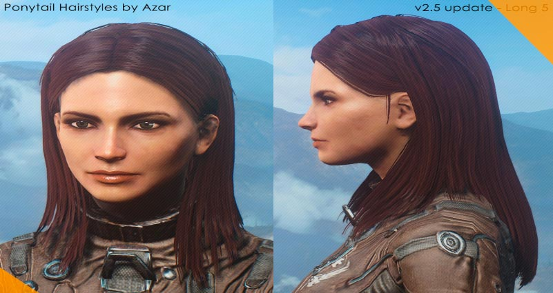 Лучшие моды для Fallout 4 Ponytail Hairstyles by Azar V2.5a