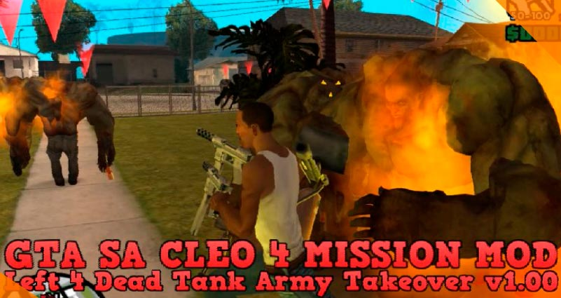 Лучшие моды для GTA San Andreas Left 4 Dead Tank Army Takeover
