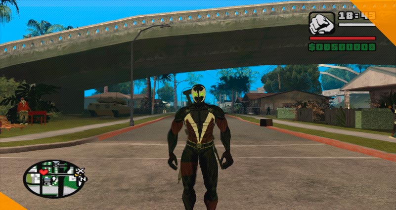 Лучшие моды для GTA San Andreas Spawn With Cape Movie Version Skin for Gta Sa V.3